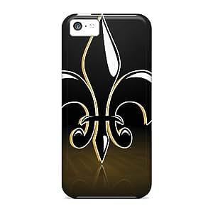 Bumper Hard Cell-phone Cases For Iphone 5c (SZE18890JGaI) Unique Design Stylish New Orleans Saints Image