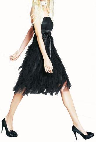 Apart Damen Kleid Tull Abendkleid Schwarz Grosse 46 Amazon De Bekleidung
