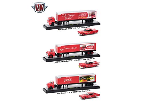 M2 Machines Auto Haulers Coca-Cola Release, 3 Truck for sale  Delivered anywhere in Canada