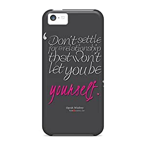 For Iphone 5c Tpu Phone Case Cover(oprah Winfrey Quote About Relationships)