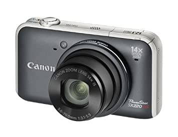 Canon PowerShot SX220 HS - Cámara Digital Compacta 12.1 MP - Gris