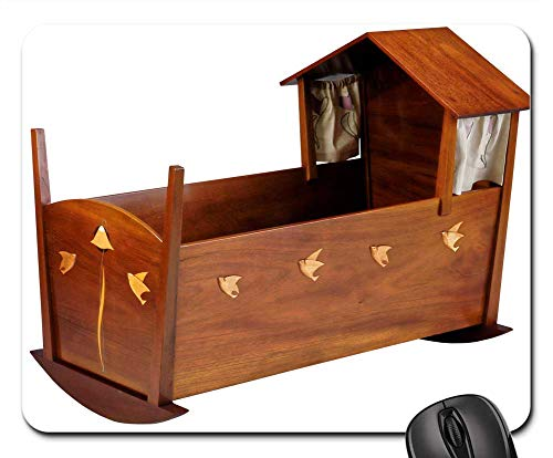 Mouse Pads - Cradle Furniture Baby Bed Mahogany Maple