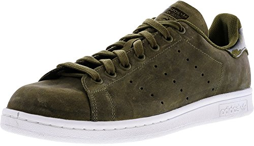 Adidas Men's Stan Smith Green/White Camo Ankle-High Leather Fashion Sneaker - 10M White Leather Camo