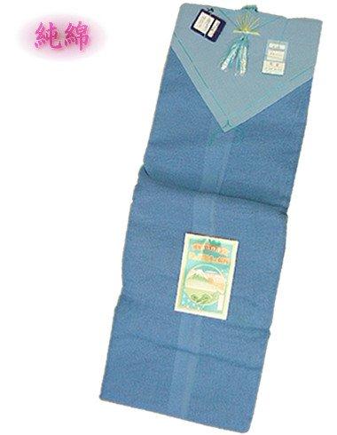 蚊帳(かや)/純綿浅黄ブルー色3帖 B002WMLCHO