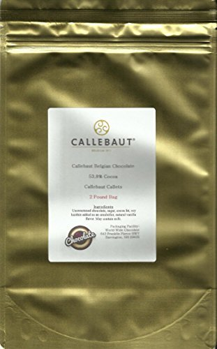 Callebaut Chocolate Callets Semisweet (small discs) 53.8% cacao 2 lbs