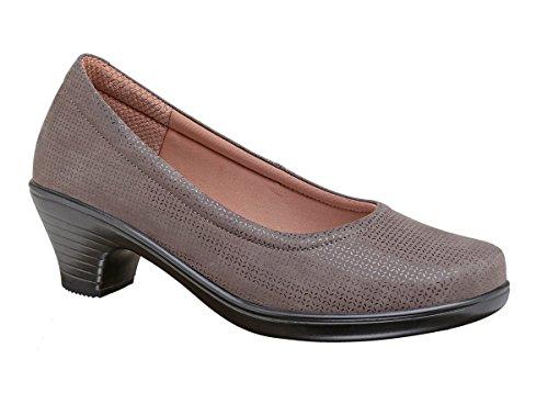 Inch Plantar 2 Dina Heel Heels BioHeels Orthofeet Shoes Fasciitis Low Dress Pumps Comfortable Women's Gray Bunions High 7CqAWwI