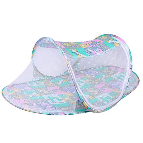 ICCUN Foldable Infant Baby Mosquito Net Tent Travel Instant Crib Crib Netting by ICCUN (Image #1)
