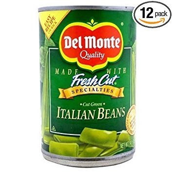 Del Monte Green Beans, Italian Cut, 14.5-Ounce (Pack of 12) - Italian Green Beans