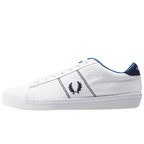 Perry B2 Tennis Trainers Fred White Canvas Mens vBwxEd