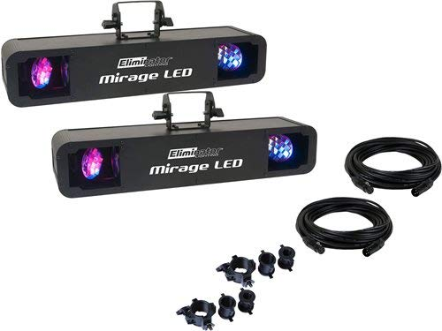 Eliminator Mirage LED Effect Light 2-Pack w/Accessories - Effect Rotating Led Moonflower