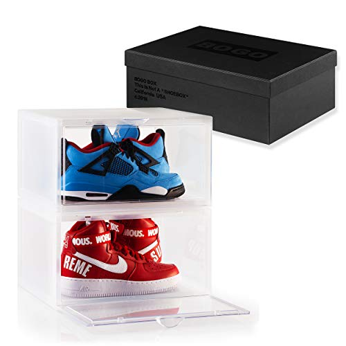 ates, Storage Shoe Boxes with Clear Side Drop Door ()