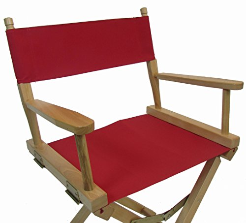 Sunbrellaï Directors Chair Replacement Cover (ROUND STICK) - Red (Custom Director's Chair)