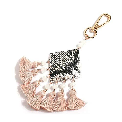 Hand Made Colorful Bohemian Pom Pom Tassel Bag Charm Keychain- Gife...