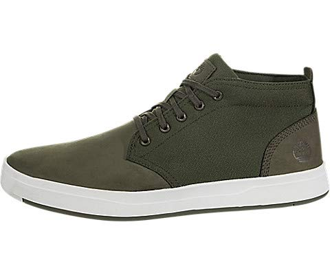 Timberland Mens Davis Square Chukka Dark Green Nubuck Boot - 8.5