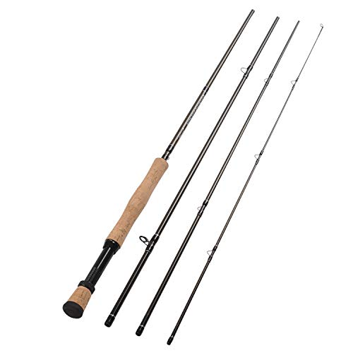 Fiblink 4-Piece Lightweight Portable Graphite Fly Fishing Rod With 30-ton Carbon Fiber Blanks (7/8 Wt)