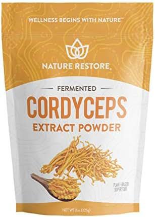 Cordyceps Sinensis Mushroom Powder, 8 Ounces, Produced Through Liquid Mycelium Fermentation, Standardized to 8 Percent Cordycepic Acid, Authenticated CS4, Vegan, Non GMO
