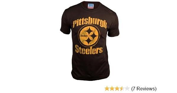 Amazon.com   Pittsburgh Steelers Men s Retro Vintage T-Shirt (Black Wash 52076915f