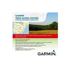 Garmin Topo Alpina España - Mapas para GPS, cobertura geográfica, espacios naturales de Andalucía