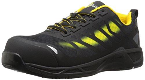 Work Composite Nautilus Shoe Toe - Nautilus 2436 Men's Advanced ESD Nano Carbon Fiber Safety Toe Athletic Work Shoe, Yellow, 13 W US