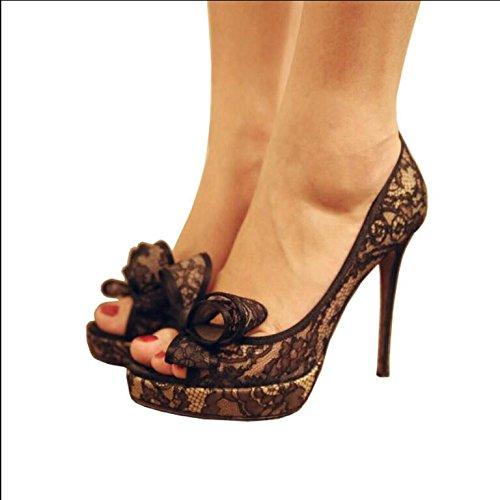 Fein mit weiblichen Schuhe, Fisch Mund mit feinen, mit weiblichen Sandalen, Golden, 33