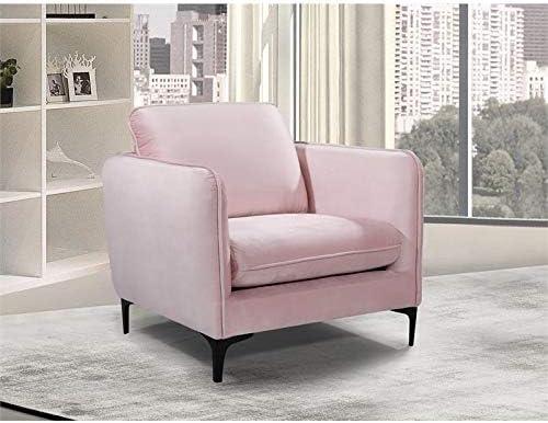 Meridian Furniture Poppy Collection Modern | Contemporary Velvet Upholstered Chair