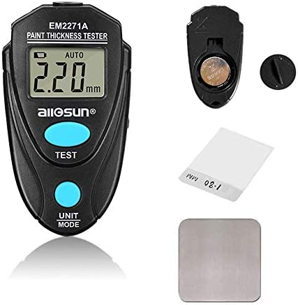 YYONGAO High Precision, Portable Scientific EM2271A Digital Thickness Gauge Coating Meter Fe/NFe 0.00-2.20mm For Car Thickness Meter