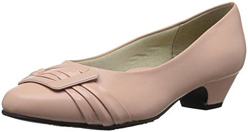 Soft Style by Hush Puppies Women's Pleats Be with You Pump, Rose Cloud Kid, 09.5 N US