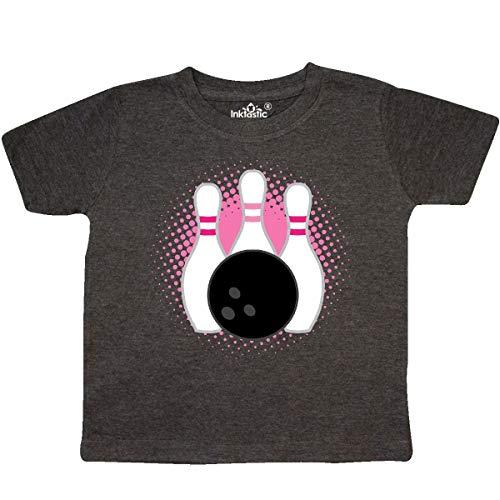 inktastic - Bowling Pins Cute Toddler T-Shirt 3T Retro Heather Smoke 3344b