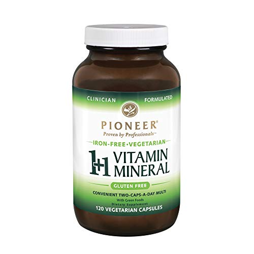 (Pioneer Nutrition 1 Plus 1 Vitamin Mineral Veg Iron Free, 120 Count)