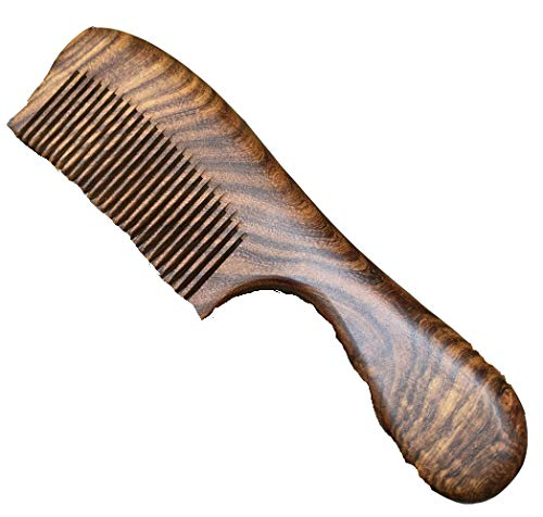 Long Hand-made Vintage Sandalwood Wooden Wide-toothed Wooden Comb Wood Color Anti-static Wooden Comb Health Wooden CombColor: Wood Color