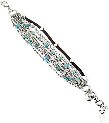 Lucky Brand Women's Mini Lucky Layer Turquoise Bracelet