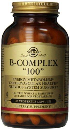 Solgar, B-Complex ''100'', 100 Veggie Caps (Pack of 3) by Solgar