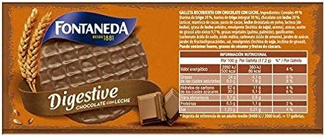 Fontaneda - Digestive Galletas Cubiertas de Chocolate con Leche, 300 g: Amazon.es: Alimentación y bebidas
