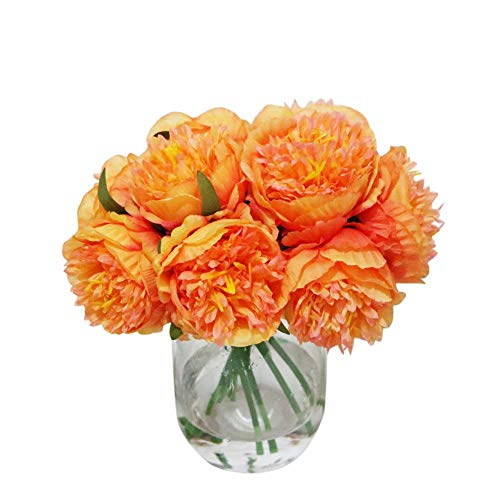 Artificial Flowers Fake Flowers 5 Heads Peony Flowers