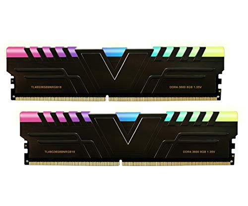 V-Color Prism RGB 16GB (2 x 8GB) DDR4 3600MHz (PC4-28800) CL18 1.35V Desktop Memory -Black (TL48G36S8KBNRGB18)