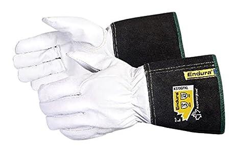 Superior 370 gfkl Arc Tig soldadura guantes de piel con forro de Kevlar, el trabajo