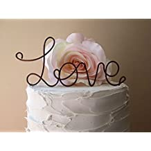 LOVE Wedding Cake Topper in Oxidized Copper Finish (Brown) Special Events Decoration