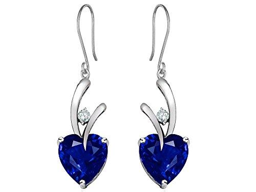 Star-K-Sterling-Silver-Hanging-Hook-Heart-Earrings