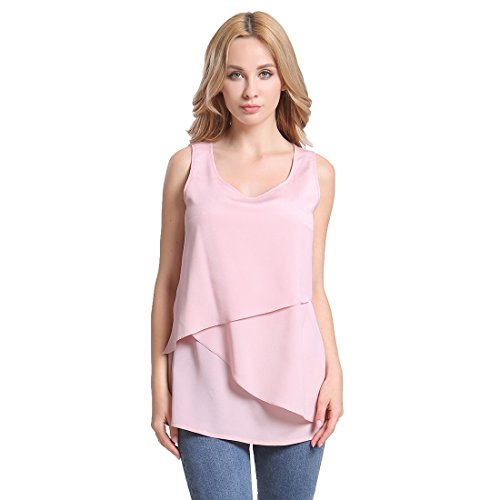 MS·VASSA Women's Casual T-Shirt Sleeveless Shirt Blouse Summer Tank Women Tops Fashion Size S-6XL