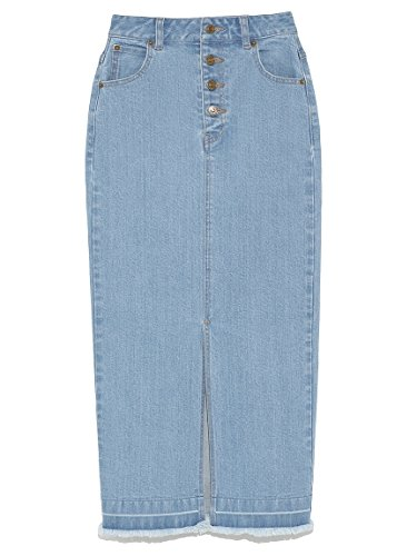 Amazon | snidel(スナイデル)デニムタイトミドルスカート | スカート 通販