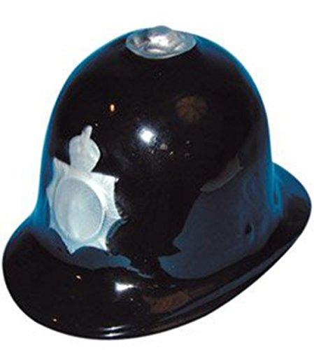 [Mens Fancy Dress Party Head Wear Adults Police Helmet Cheap Plastic Cop Hat] (Cheap Police Hats)