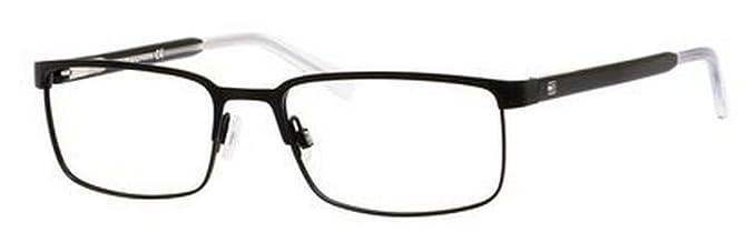 Amazon.com: Tommy Hilfiger 1235 Eyeglasses-0FSW Matte Black Crystal ...