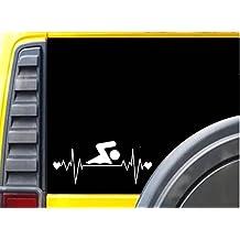 Swimming LifelineJ792 8 inch Sticker decal