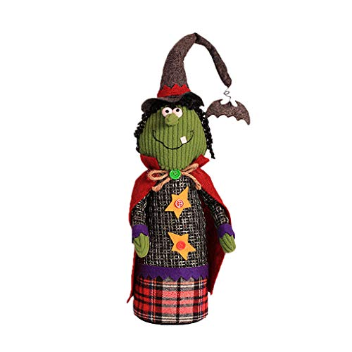 cici store Halloween Witch Doll Stuffed Toy, Standing Doll for Bar Home Desktop Window Decoration Ornament