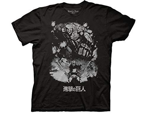 (Ripple Junction Attack on Titan Season 2 Reiner Braun - Titan Form Adult T-Shirt Small Black)