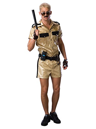 80s Halloween Costumes Guys (Reno 911 Deluxe Lt.Dangle Costume, Gold,)