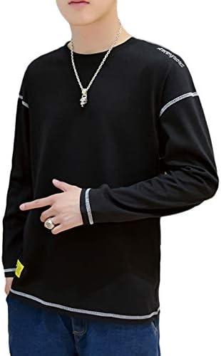 4色展開 長袖 Tシャツ ラウンドネック シンプル デザイン 無地 春 夏メンズ M~2XL