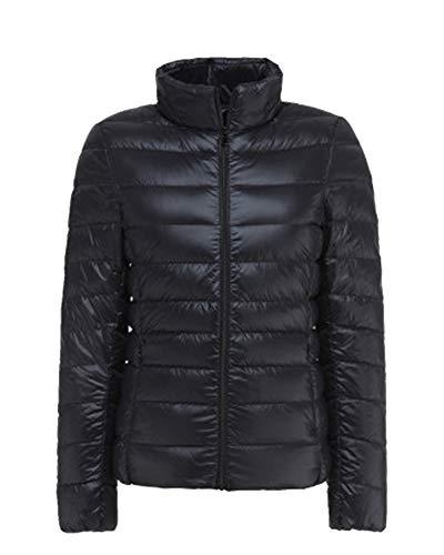 Jacket Women Light Down Down Piume Coat nere Laozana qfpCwp