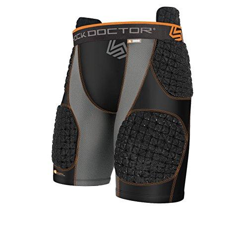 Shock Doctor Core ShockSkin 5Pad Shorts, Black/Grey, -