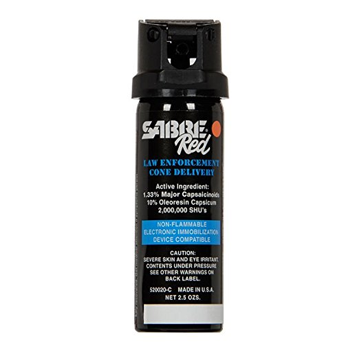 SABRE 520020 C Pepper Spray, 2.5 oz Cone Delivery